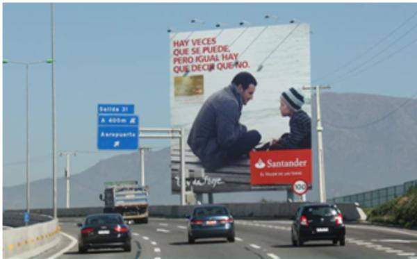 Tarifas publicitarias de gigantografías o monumentales