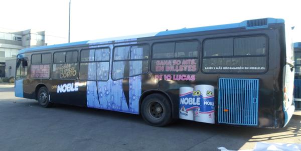 Principales formatos de publicidad en buses Transantiago