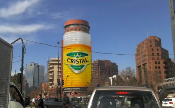 Tarifas de publicidad en edificios (o building wrap)