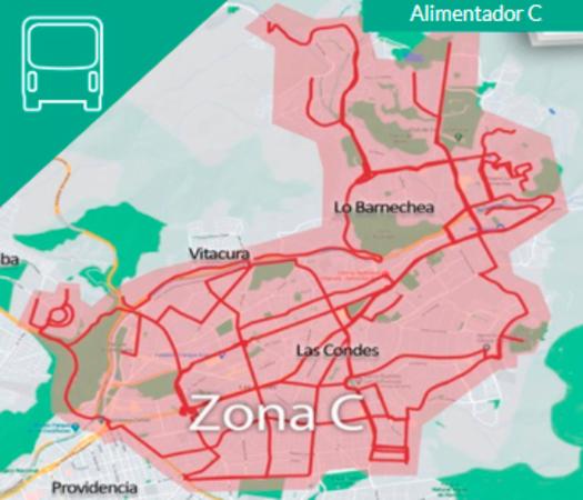 Recorridos para hacer publicidad en buses Transantiago 2021