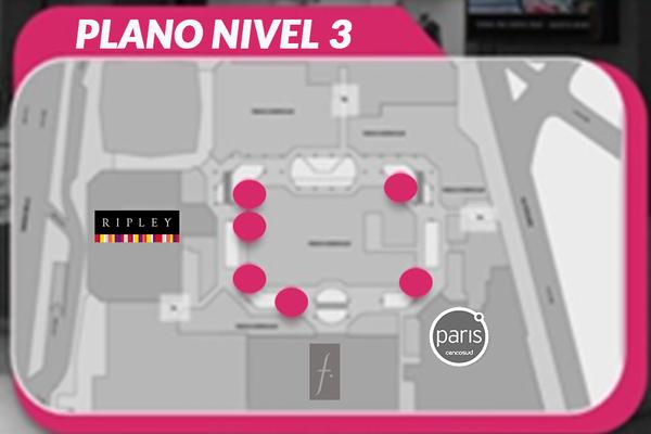 Foto de Circuito Pantallas Digitales Pilares (3 de 82'/3 de 65') - Nivel 03 - Costanera Center (6)
