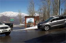 Turistico Ruta G-1 Farellones, Cruce a Valle Nevado