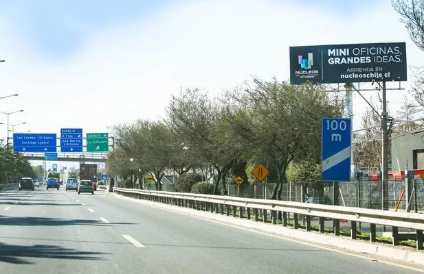Foto de Américo Vespucio (P-O) entre Lo Boza y Lo Echevers (Hacia Ruta 5/La Pirámide) (12x4)