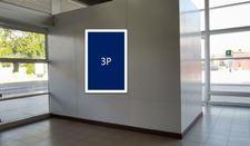 Letrero retro-iluminado, cara simple / Sector Hall 1 nivel