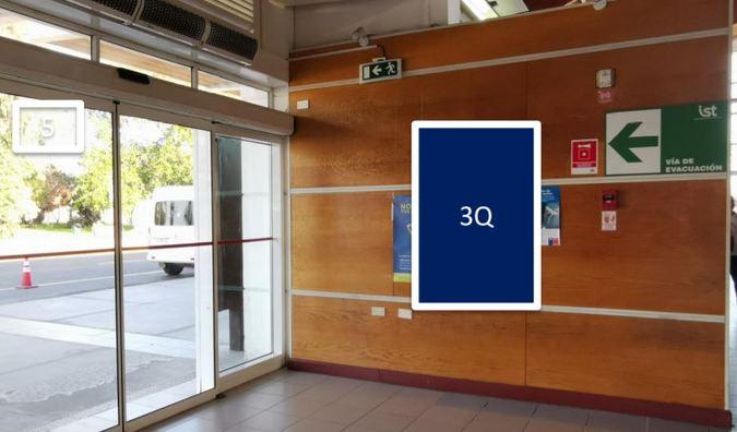 Foto de Letrero retro-iluminado, cara simple / Sector Hall 1 nivel