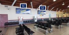 Letrero, retro-iluminado cara simple / Sector Embarque - Aeropuerto Arica