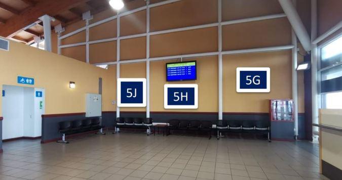 Foto de Letrero, retro-iluminado cara simple / Sector Embarque - Aeropuerto Arica