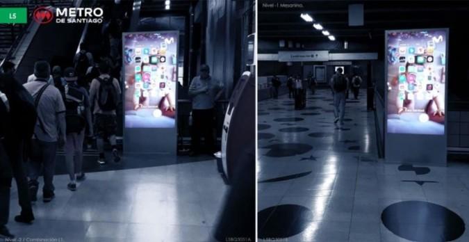 Foto de Tótem Digital Unifaz - L5 - Estación Baquedano (2)