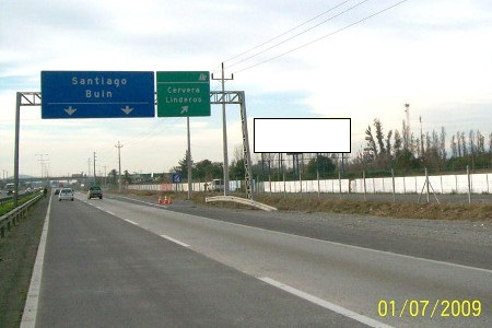 Acceso Sur a Santiago, desde Paine hacia Buin