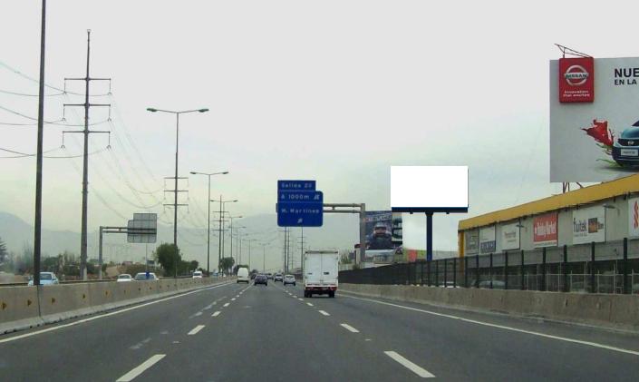 Costanera Norte salida del tunel, hacia Aeropuerto y Ruta 68