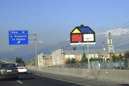 Acceso Sur a Santiago, hacia Lo Espejo