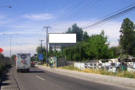 Acceso Sur a Santiago, antes bifurcación
