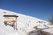 Letrero Camino El Colorado y La Parva