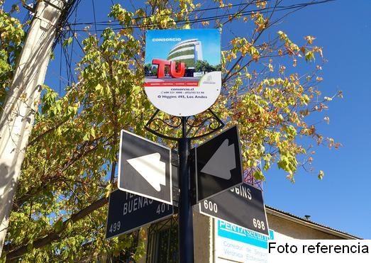 Foto de Indicador de calles, Av. O'Higgins - Traslaviña, San Felipe
