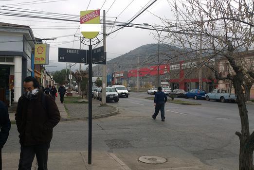Foto de Indicador de calles, Av. Maipú - Freire, San Felipe