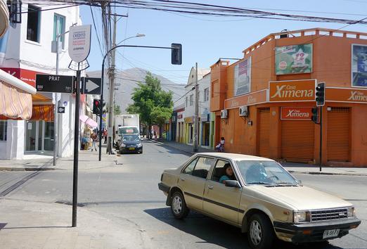 Foto de Indicador de calles, Traslaviña - Prat, San Felipe