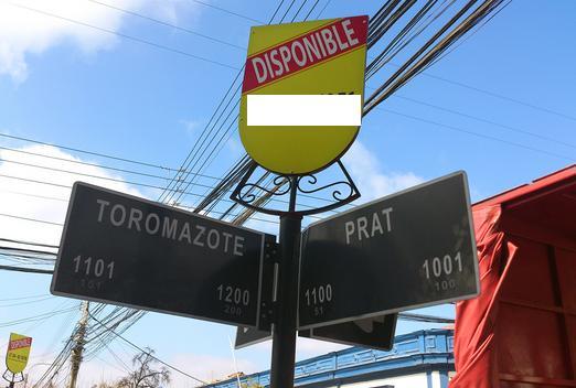 Indicador de calles, Toromazote - Prat, San Felipe