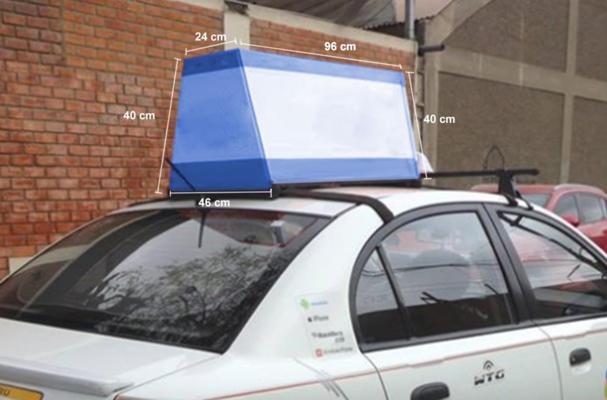 Foto de Publicidad en Taxi Comas