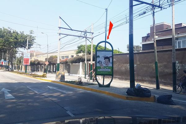 Foto de AV.  PEDRO DE OSMA Cdra. 4.00 / FRENTE AL 409 (MANOS MORENAS)